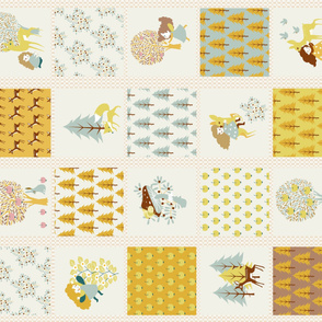 CHEATER QUILT Fairy Woodland