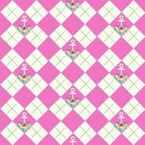 argyle anchor summerFLO  pink apple -MED6