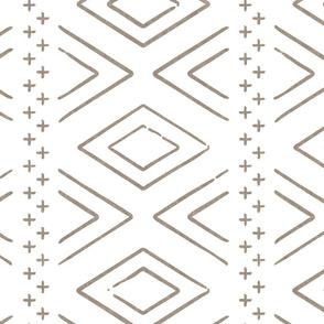 Safari Wholecloth Diamonds in brown  - farmhouse diamonds - mud cloth fabric (90) C19BS