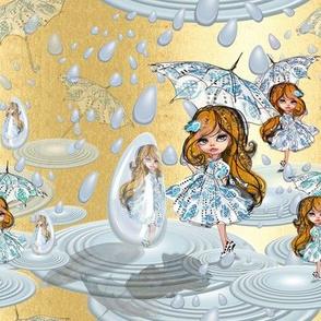 Dancing in the rain - gold