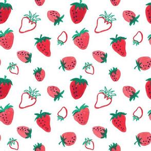 Gouache Strawberries