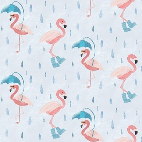 Rainy Flamingos