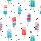 Patriotic Pops // White and Black Dots