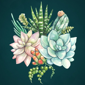 Succulent and Cactus Galore (Jewel Tone)