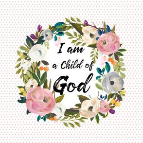 "54""x72"" I am a Child of God Pink Polka Dots"