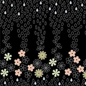 April Showers Kimono-Black