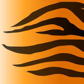 Tiger Stripes Black and Orange ,Gold Orange and Black Animal Print Champs on Fading or Gradient Background