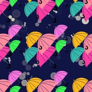 Umbrella Storm - Navy