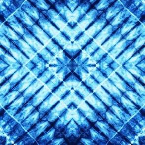 (small scale) shibori - indigo tie dye | 4  C19BS