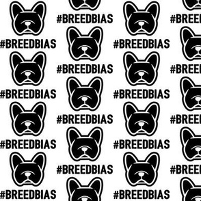 Frenchie #breedbias - french bulldog love fabric - Smooshface fabric