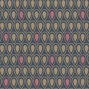 Abstract Teardrop Geometric - Dark (small)