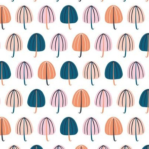 Umbrellas Pink and Blue - Small