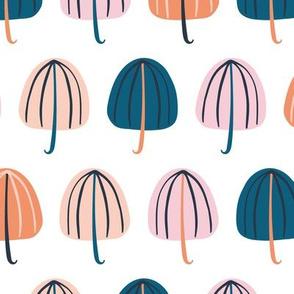 Umbrellas Pink and Blue - Medium
