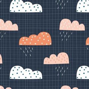 Rain Clouds Inky Blue