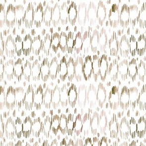 Boho ikat • watercolor natural brush strokes pattern