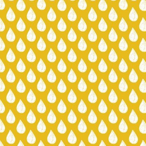 Yellow Raindrops Small
