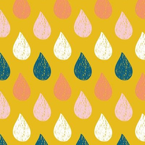 Raindrops graduated colour medium