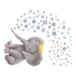 "27""x18"" Baby Elephant with Stars"