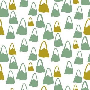 Modern Mountains - green