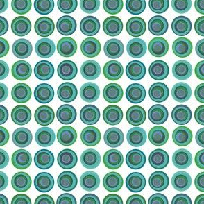 Blue and Green polka dot circles