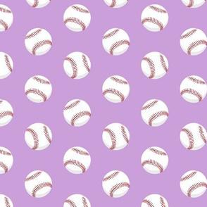 baseballs - red stitching on purple C19BS