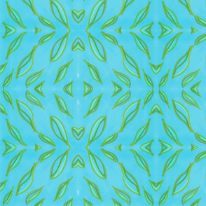 Blue Leaves Pattern