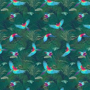 Tropical Birds in Flight