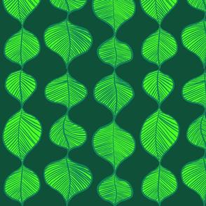 Leaves in lines