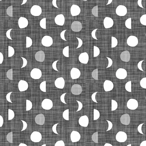 moon phases // charcoal linen
