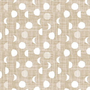 moon phases // taupe linen