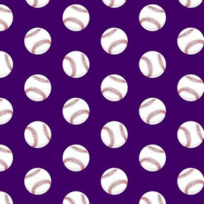 baseballs - red stitching on dark purple C19BS
