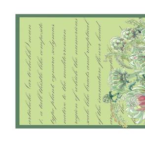Tea Towel 19x27 Artichoke multi