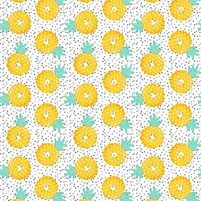 (small scale) Pineapple donuts - doughnuts - summer - polka dots - LAD19BS