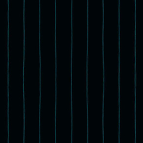 Squiggle Stripes on Midnight-Teal (2in)