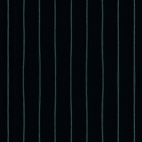 Squiggle Light Blue Stripes on Midnight Teal