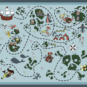 pirates and mermaids playmat
