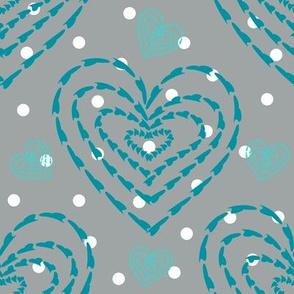 Hearts in DotsGray