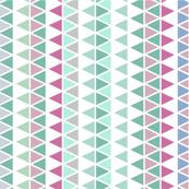 Modern chalky geometric triangles