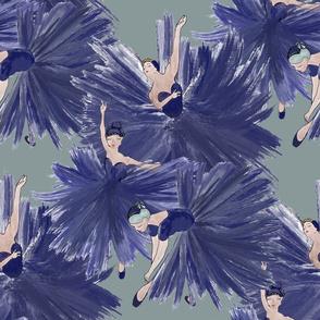 3 Ballerinas in blue