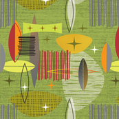 Mid Century Modern graphic green