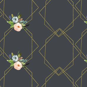 gold triangle floral