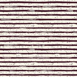 "8"" Crimson Stripes and Ivory Back"