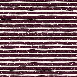 "8"" Ivory Stripes and Crimson Back"