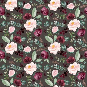 "8"" Wild at Heart Florals Brown"