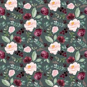 "8"" Wild at Heart Florals Crimson Polka Dots"