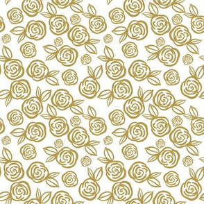 """8"""" Gold Roses"""