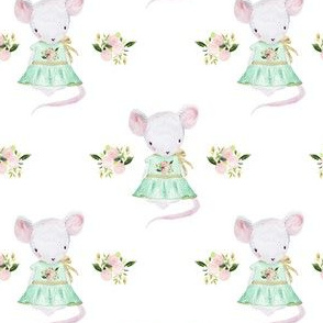 """4"""" Lila The Mouse In Spring"""