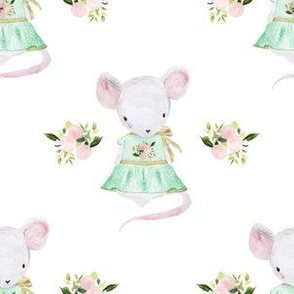 """6"""" Lila The Mouse In Spring"""