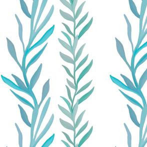 Kelp forest- white background