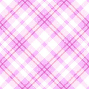 Subtle Pink Tartan Plaid With Sparkles